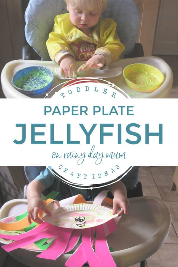 toddler craft paper plate jellyfish