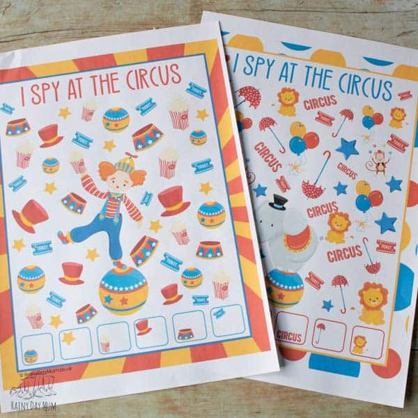 FREE Printable Circus I Spy Counting Game for Toddlers and Preschoolers