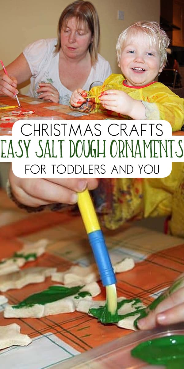 Simple Christmas Craft to do with toddler during the holiday season create some salt dough ornaments for the Christmas Tree
