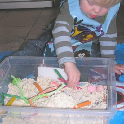 Homemade Cloud Dough Recipe for Toddlers and Preschoolers