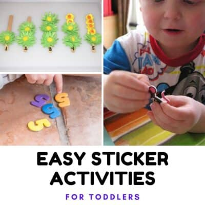 Easy Sticker Activities for Toddlers
