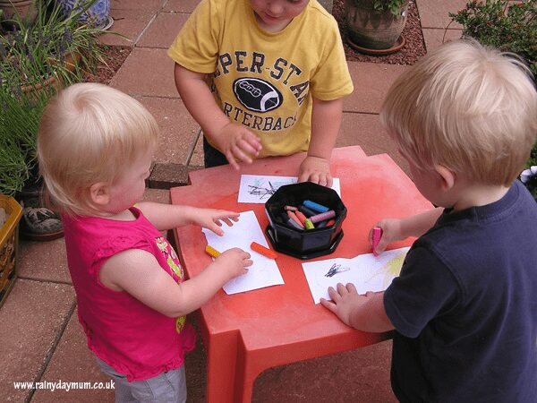 crafting outside for children