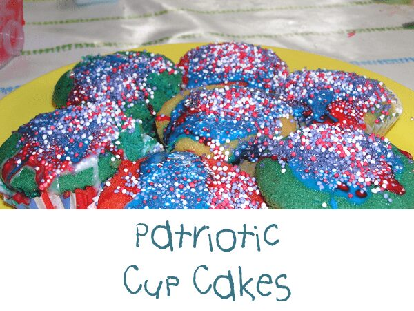 red white and blue cupcakes to make with kids for VE day or Independence day