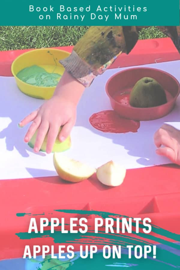 apples up on top book based activity for kids