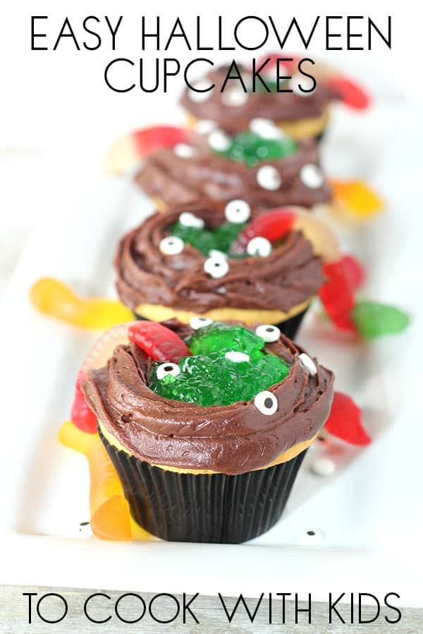 Easy Halloween Cupcakes for Kids to Make Witches Cauldrons
