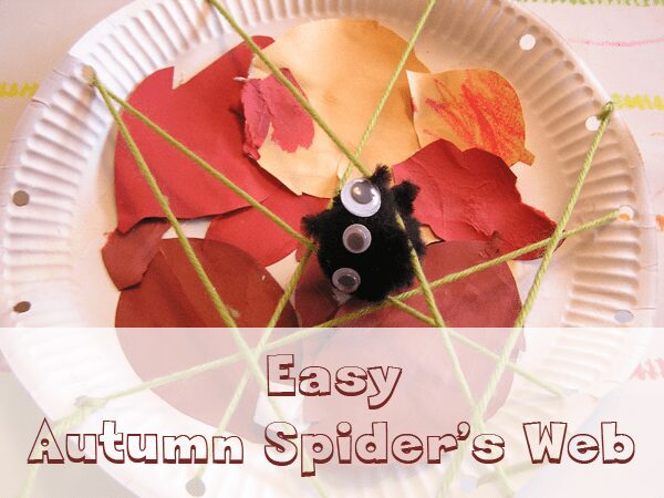 Preschool Spider Web Craft to make this fall
