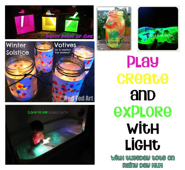 light play and crafts for tots