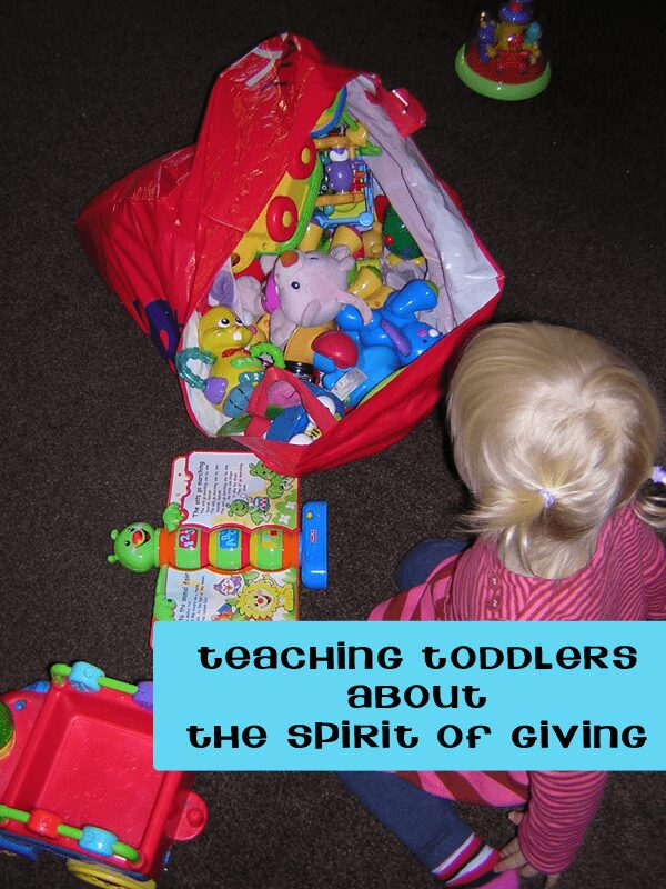teaching toddler about giving