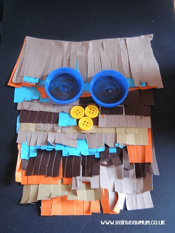 Recycled Art Work - Bottle Top Owl