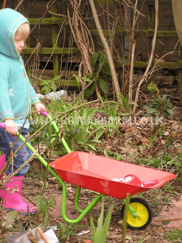 Gardening with toddler growing tomatoes with Heinz Ketchup Grow you Own