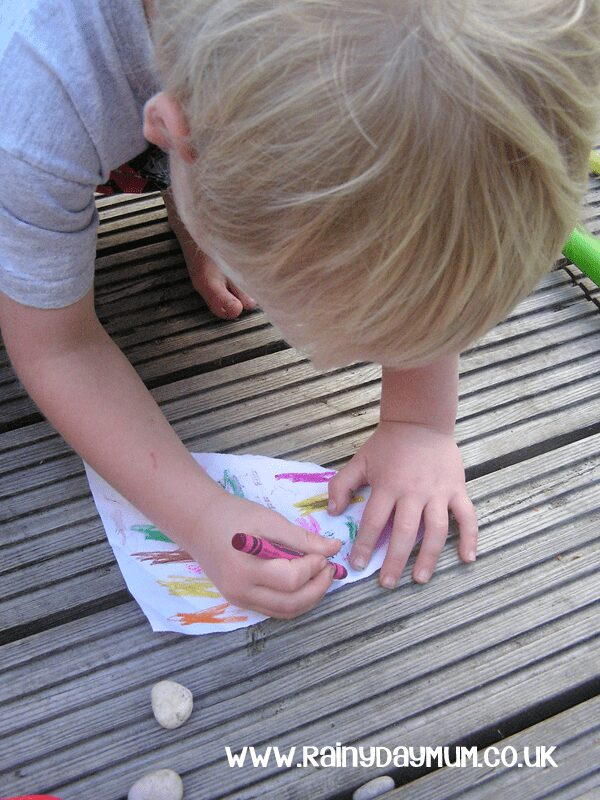 Creating rubbings to explore textures in more detail looking at language