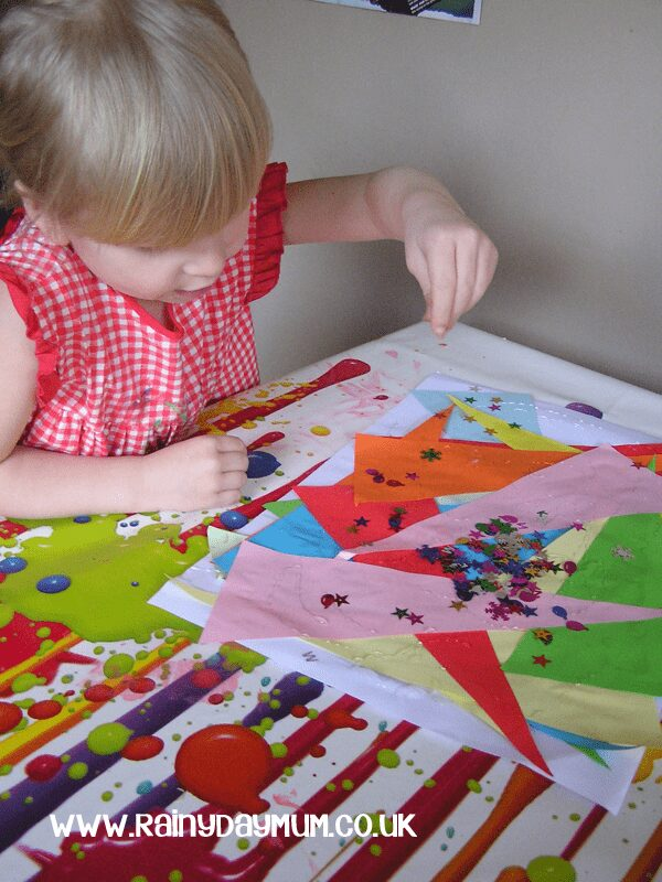 Making mixed media collages with preschoolers