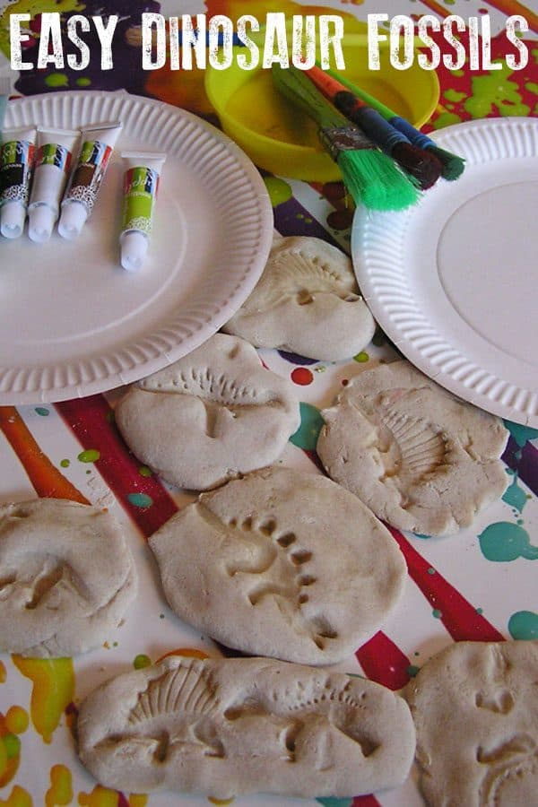 easy fossil craft for kids