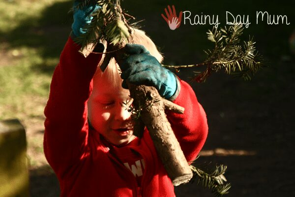wildlife gardening with kids - a log pile home