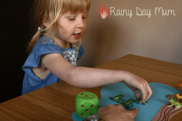 Counting game for preschoolers with a spring theme