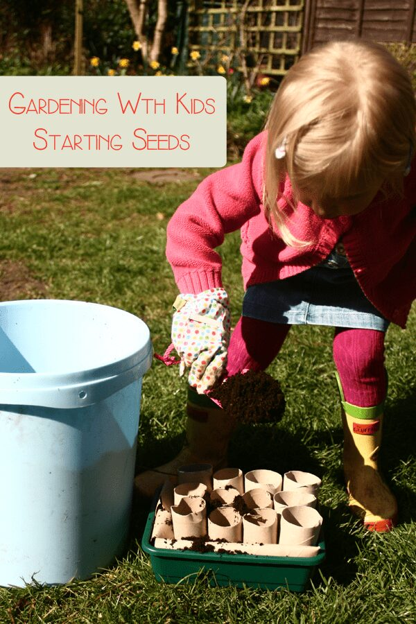 Gardening with kids -starting seeds