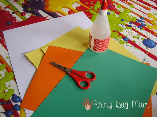 Creative Table set up for making Spring Daffodil Pictures