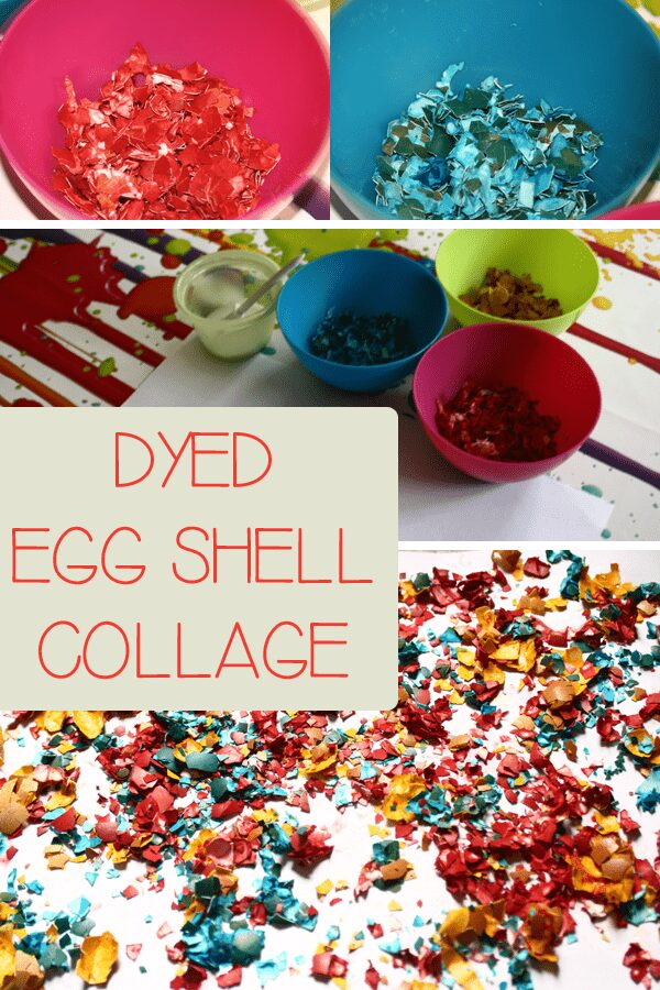 Dyed Egg Shell Collage