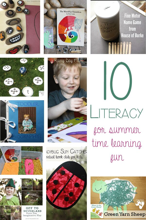 10 Literacy activities for summer fun