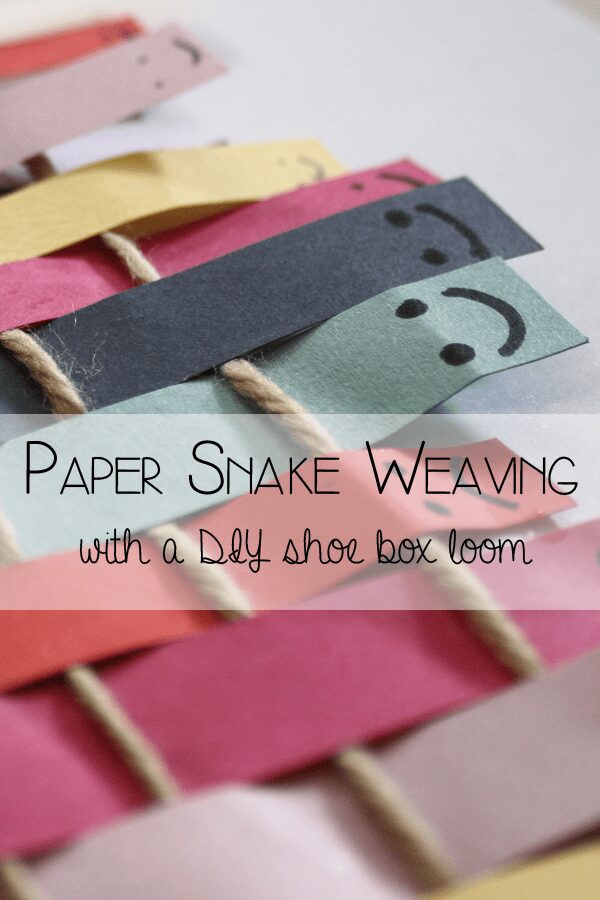 Shoe Box Loom and Paper Snake Weaving