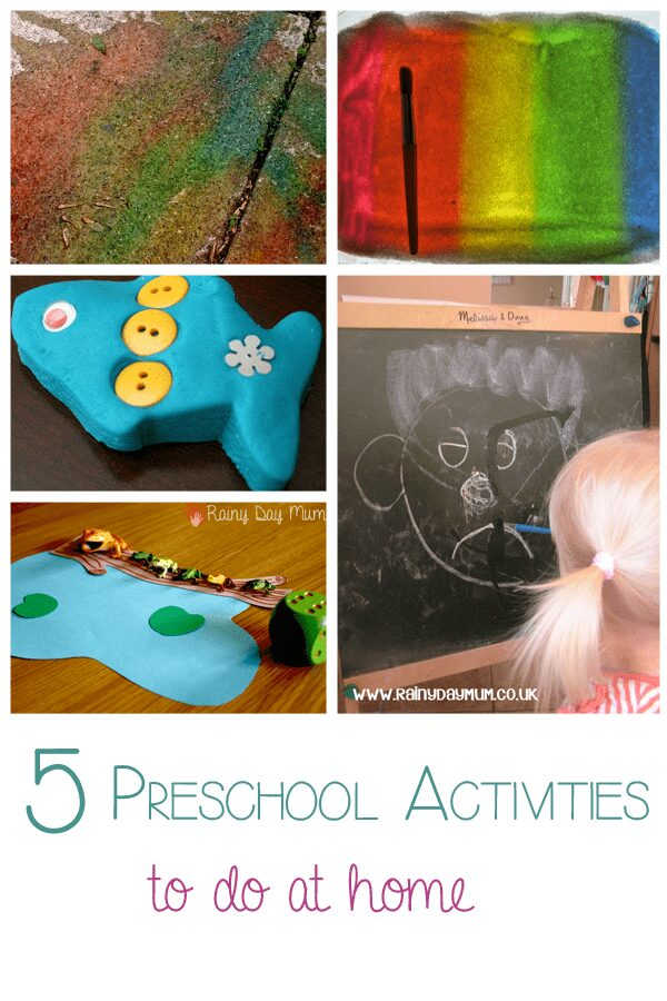 5 Preschool Activities to do at home