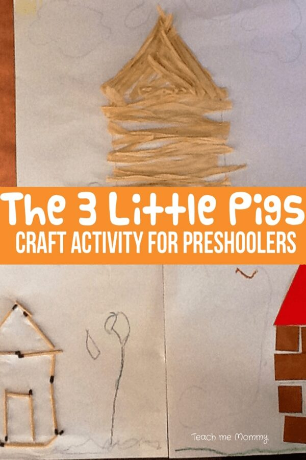 The 3 Little Pigs Craft Activity for Preschoolers