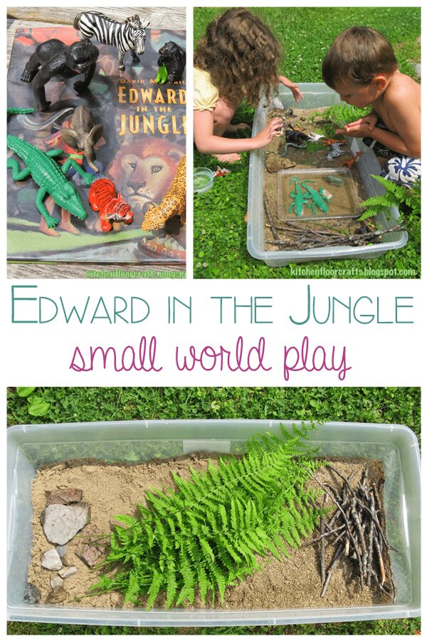 Edward in the Jungle - Small World Play bringing story books alive through play and craft with guest bloggers on Story Book Summer via Rainy Day Mum