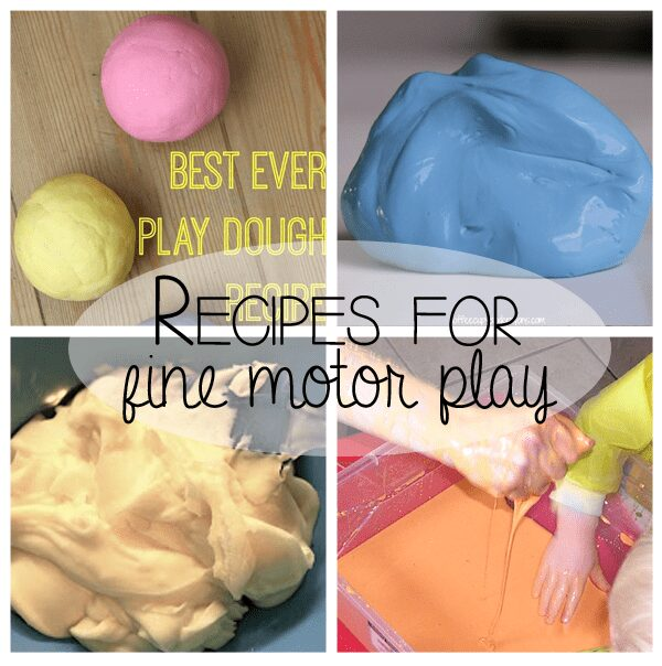 Getting ready for school through play - 4 simple recipes to make at home that will help your child develop fine motor skills essential for writing
