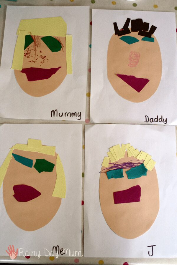 A fun collage activity as part of the family theme for preschool to create collages of the family. Plus additional resources and ideas for the theme.