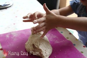 Making bread - learning about the process of harvesting wheat, milling and bread making as part of #playfulpreschool