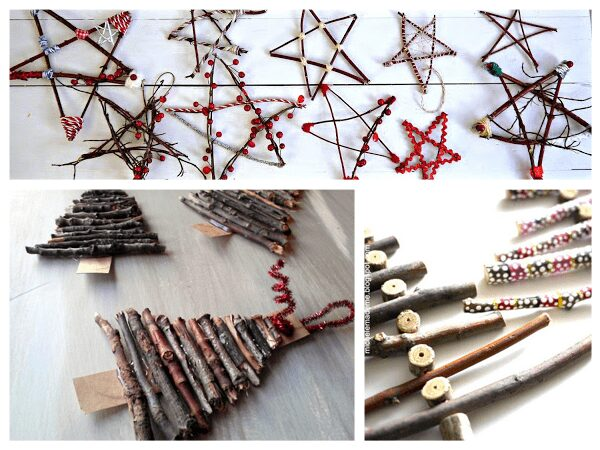 10 Natural Ornaments for Kids and you to make this Christmas