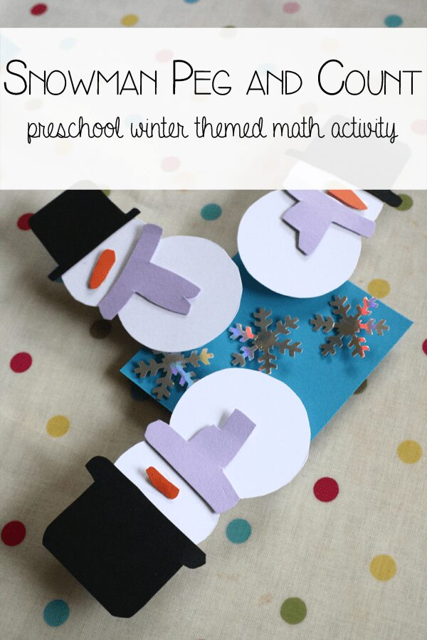 Snowman Math – Count and Peg