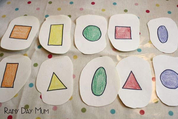 Pancake Flipping and tossing shape game for preschoolers