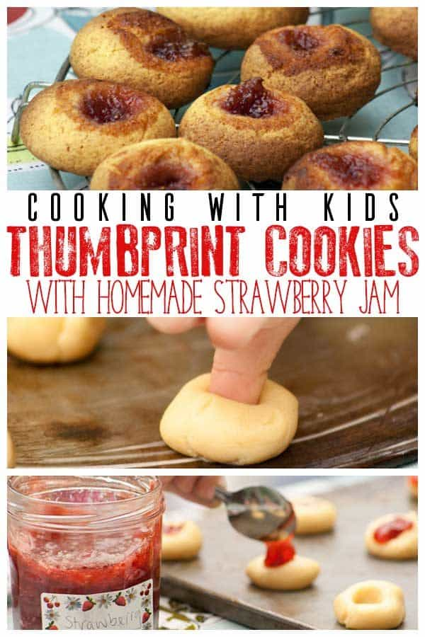 thumbprint cookies for cooking with toddlers and preschoolers