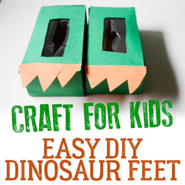 Easy DIY Dinosaur Feet to Make for Toddlers and Preschoolers