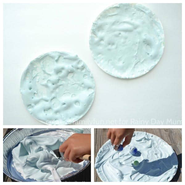 Easy Puffy Paint Moon Craft for Kids