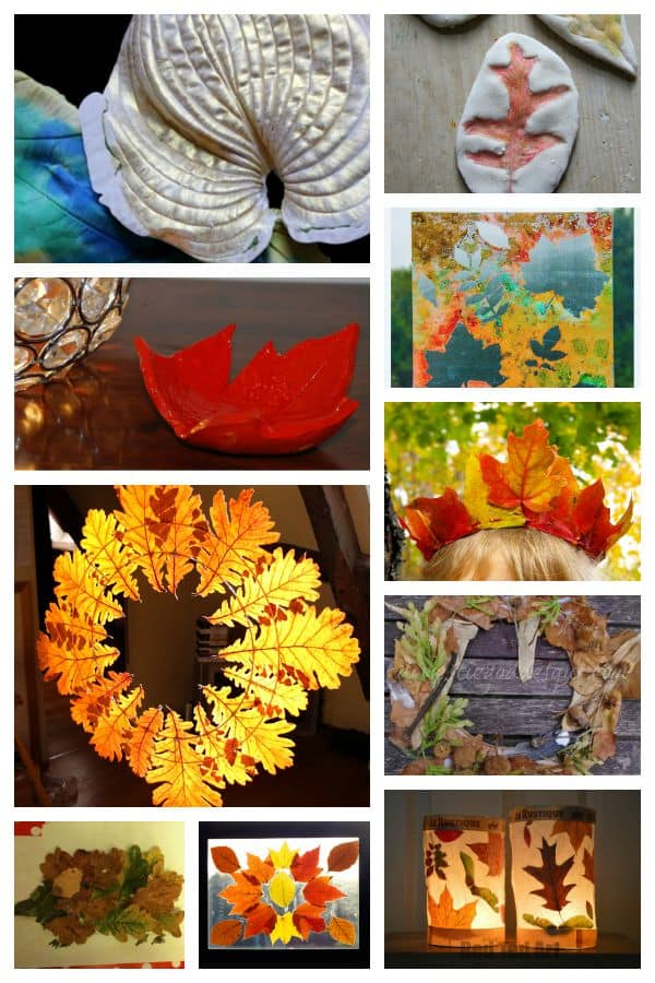 fall crafts for preschoolers using leaves