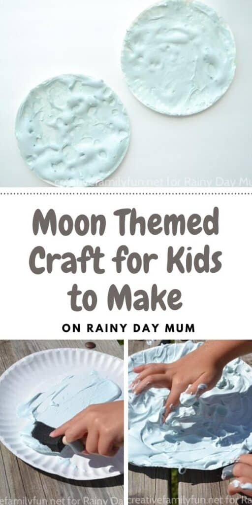 Fun moon themed craft for kids to make