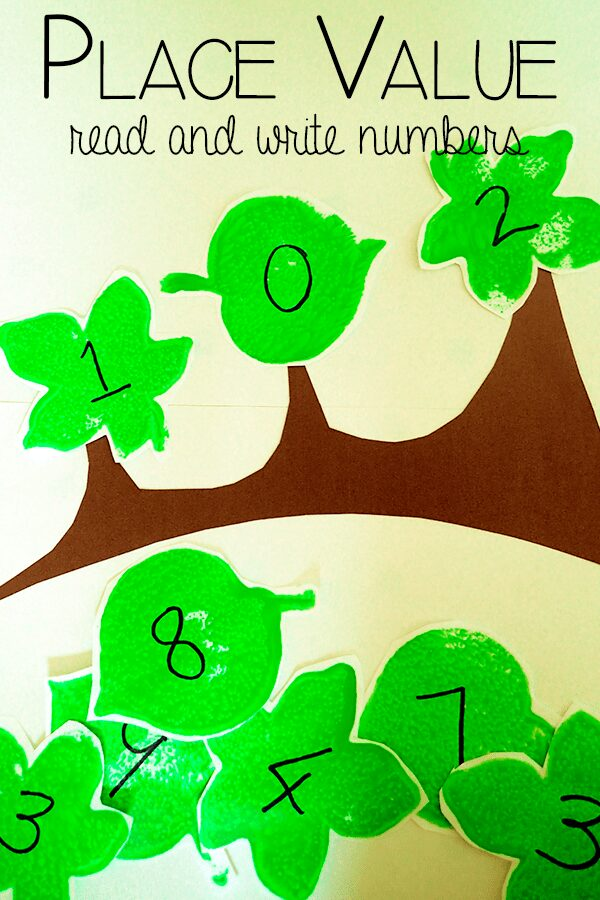 Place Value Leaves: Read and Write