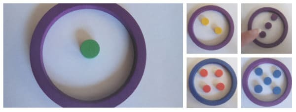 regular pattern of dots helping preschoolers with learning to count