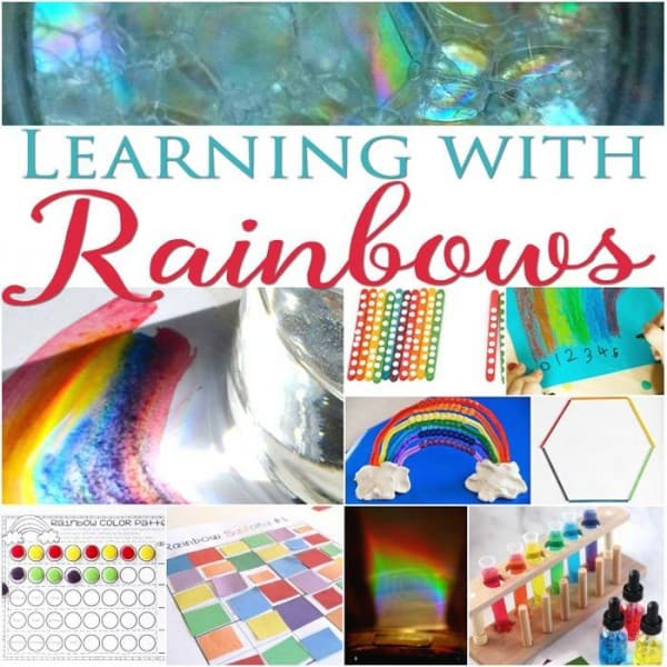Activities on the theme of Rainbows for elementary kids