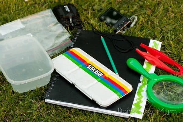 simple nature study kit you can put together at home