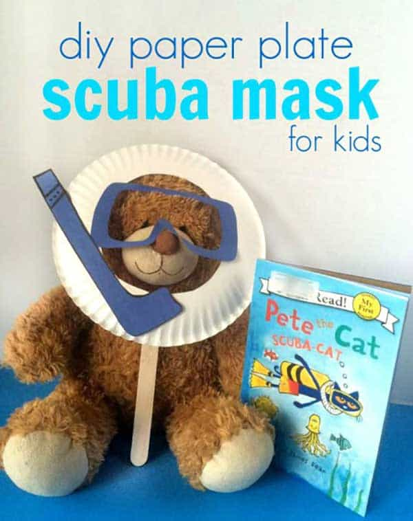 Pete the cat scuba cat mask for play