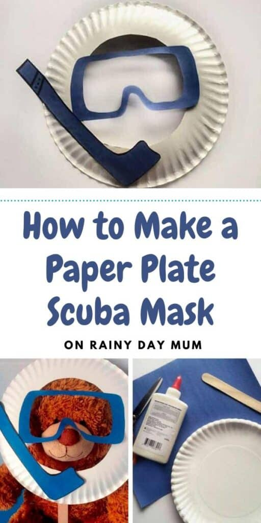 how to make a paper plate scuba mask