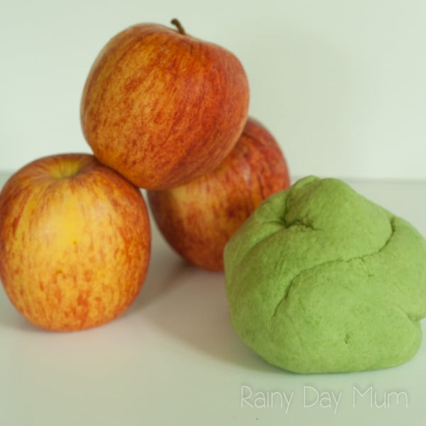 simple apple playdough you can make at home using this 2-ingredient recipe