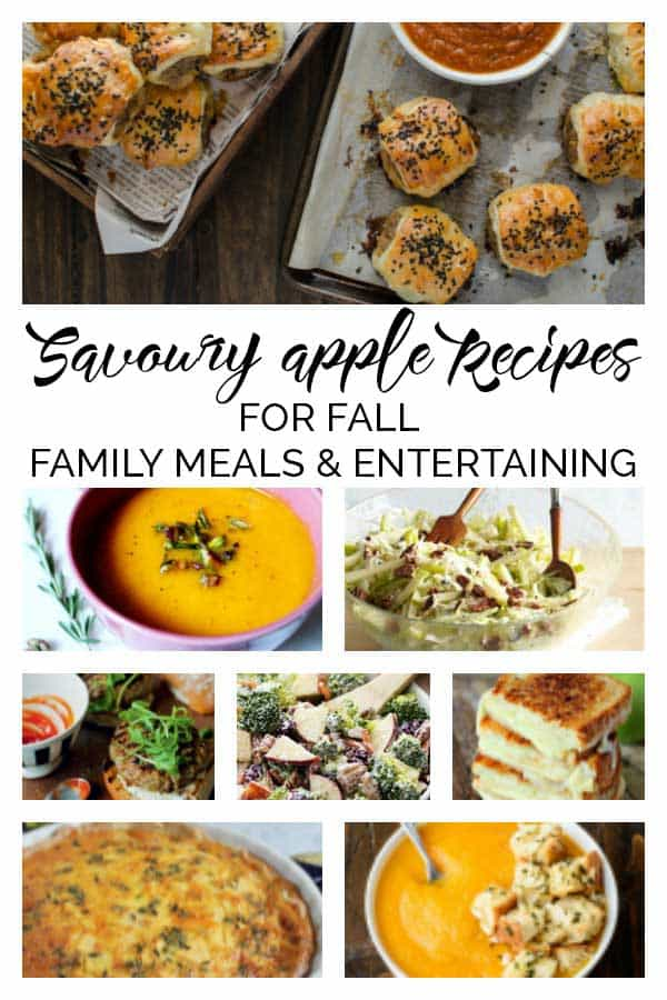 Savoury Apple Recipes for Autumn Family Meals and Entertaining