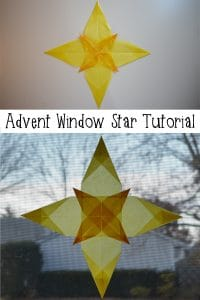 Make this advent window star with your kids! The three kings are sure to find their way with this. Easy step by step instructions & photos to make your own!
