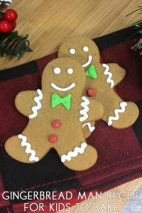 Kid Friendly Gingerbread Man Recipe easy to make and less overpowering than normal gingerbread