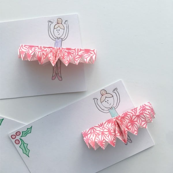 Simple Sugar Plum Fairy Gift Tags Made with Cupcake Liners