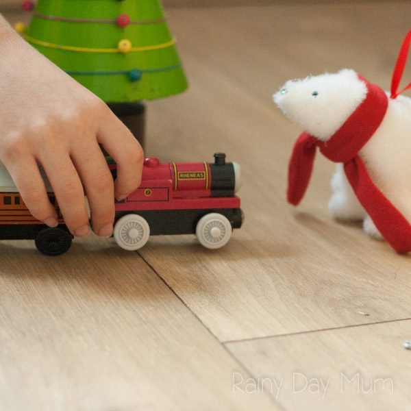 Christmas themed hands-on learning activity to help young children with their awareness of beginning sounds in this Polar Express Activity.